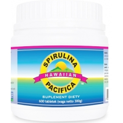 SPIRULINA HAWAJSKA PACIFICA 500 MG 600 TABLETEK