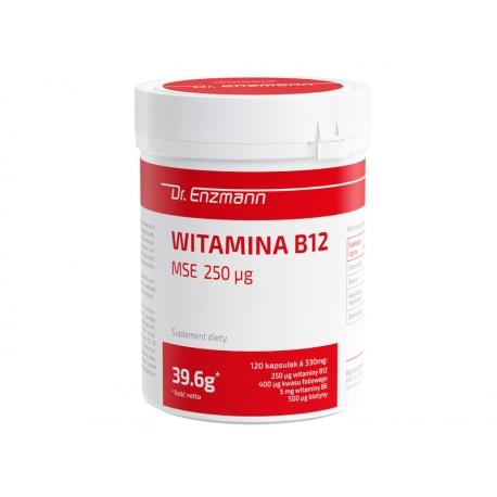 DR. ENZMANN WITAMINA B12  250 QG MSE METYLOKOBALAMINA 120 TABLETEK