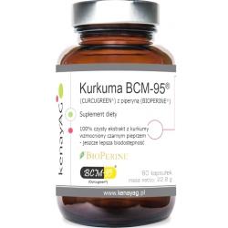 KURKUMA BCM-95®  CURCUGREEN® Z PIPERYNĄ  BIOPERINE®  60KAPSUŁEK