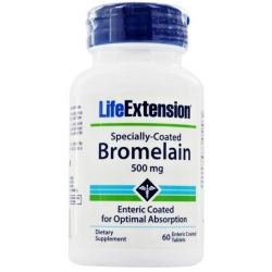 LIFE EXTENSION SPECIALLY-COATED BROMELAIN 500 mg 60 tab.