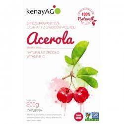 ACEROLA 25% -  ekstrakt z aceroli  Kenay (proszek) - 200 g